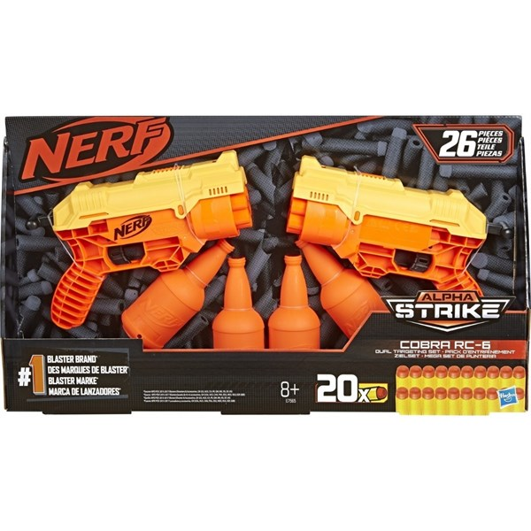 Nerf Alpha Strike Cobra Rc 6 Dual Target Set E7565