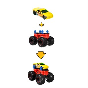 Hot Wheels Monster Trucks Dev Tekerlek Ustası Araç GWW13 - GWW14