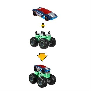 Hot Wheels Monster Trucks Dev Tekerlek Ustası Araç GWW13 - GWW15