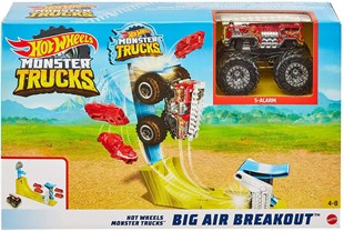Hot Wheels Monster Trucks Gökyüzü Sıçrayışı Oyun Seti GBF81 - GBF82