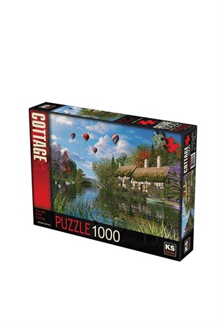 KS Games Old River Cottage 1000 Parça Puzzle