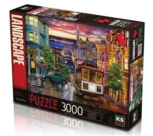 KS Sunset in San Francisco 3000 Parça Puzzle