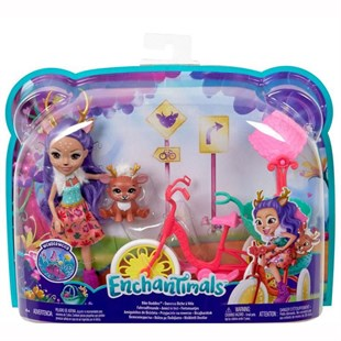 Mattel Enchantimals Bike Buddies Araç Seti FJH11 - GJX30