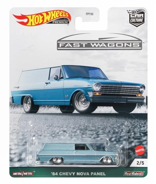 Mattel Hot Wheels Premium 64 Chevy Nova Panel FPY86 - GRJ68