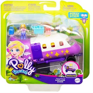Mattel Polly Pocket Pollyville Vehicles Airplane GGC39