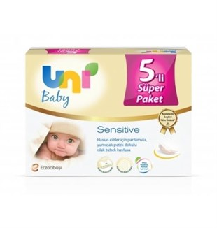 Uni Baby Sensitive Islak Havlu 5li