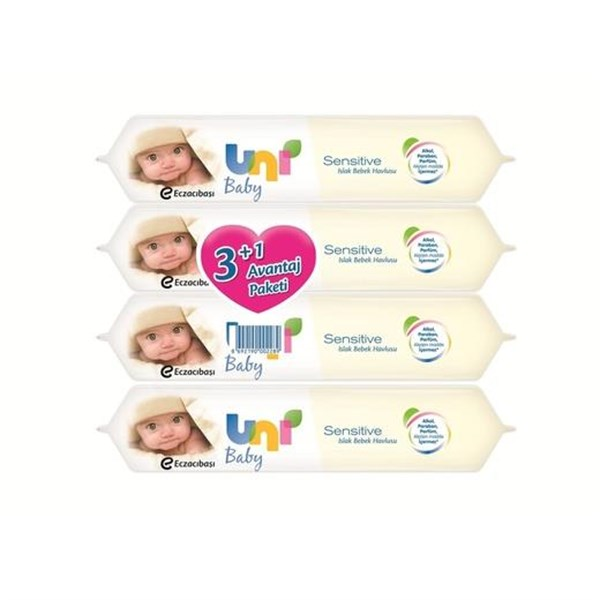 Uni Baby Sensitive Islak Havlu 3+1